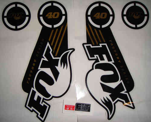 FOX Decal 2014 40 Factory Series Gold Logo Stickers