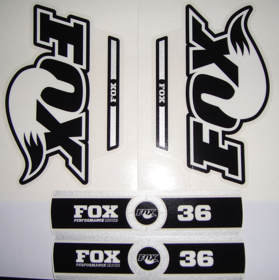FOX Decal 2014 36 B W Logo Performance Series Stickers