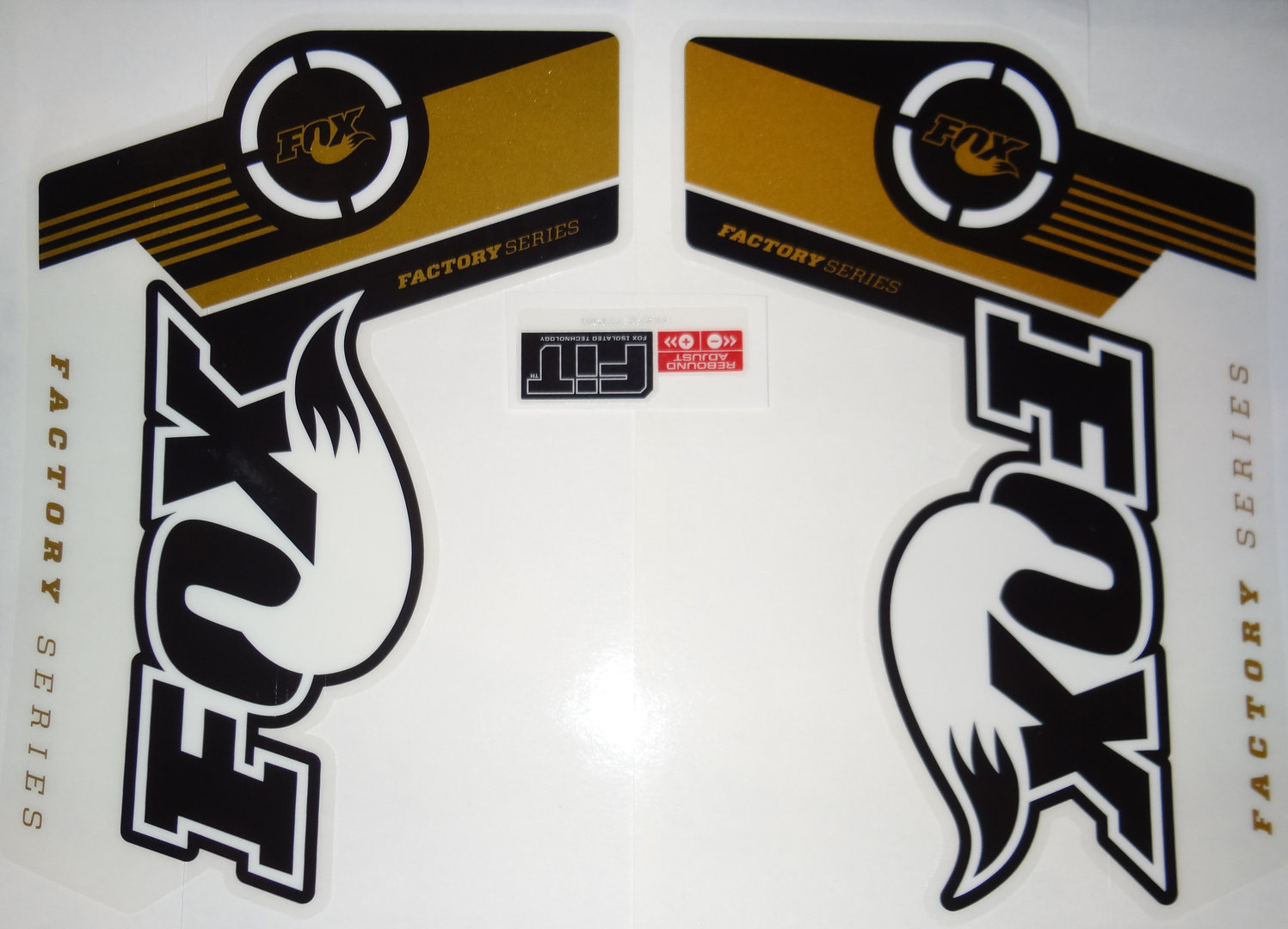 Fox fork decal 36 gold factory series stickers activesport
