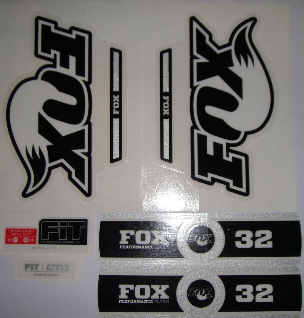 fox decal 2014 32 bw logo performance series stickers