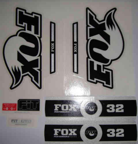 FOX Decal 2014 32 B/W Logo Performance Series Stickers