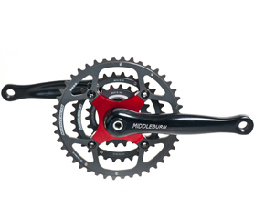 Middleburn RS8 X Type Triple 4arm Chainset Hardcoat Rings 68 / 73mm