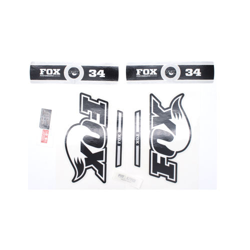 Fox Fork Decal 34 B/W Performance Series Stickers
