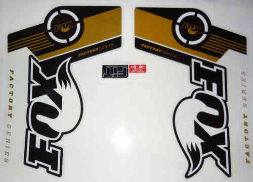 Fox Fork Decal 36 Gold Factory series Stickers