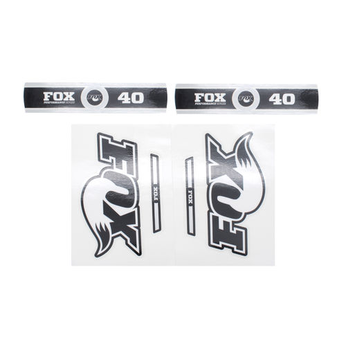 Fox Fork Decal 40 B/W Performance Series Stickers