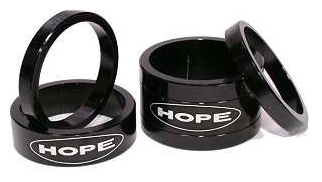"Hope Space Doctor Headset / Stem Spacers 11/8"" Ahead"