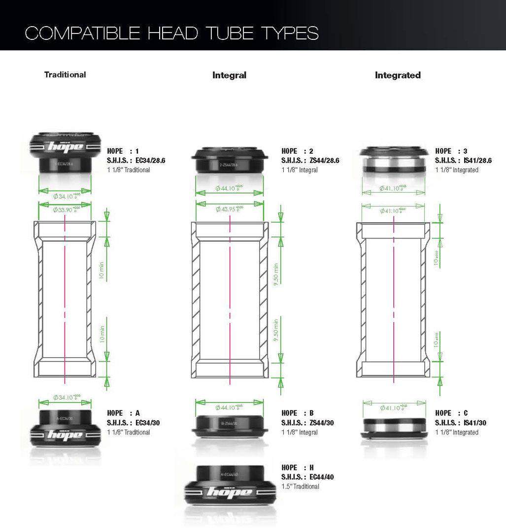 Hope Integrated Headset 11 8 Quot Steerer 41mm Frame Activesport