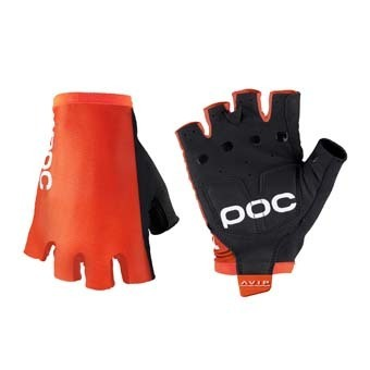 POC AVIP Glove Short Orange Black Palm