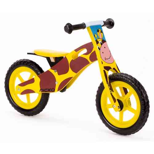Nicko Giraffe Wooden Balance Bike - Running Bike