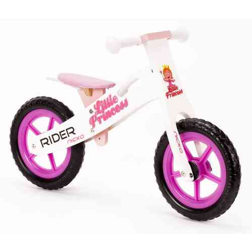 Nicko Princess Wooden Balance Bike - Running Bike