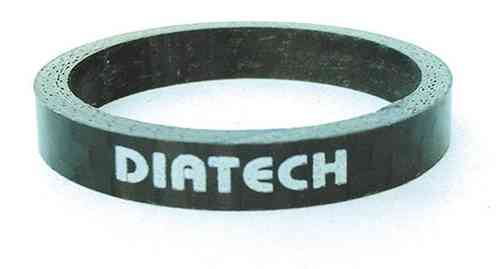 "Dia-Compe Headset Spacers 1 1/8"" Carbon with printed logo"