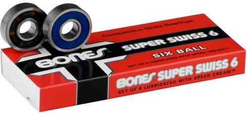 Bones Swiss Bearings Super Swiss 6 Ball set of 8