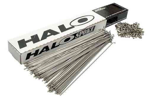 Halo Stainless Steel Spokes Plain Gauge 14g