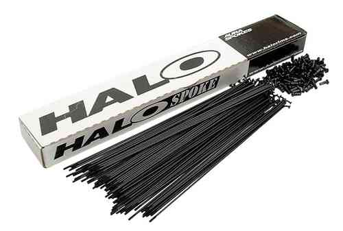 Halo Double Butted Black Spokes Black Anti-Scratch