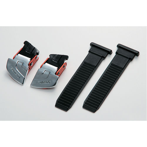 Shimano M310 / R310 buckle and strap set silver / red