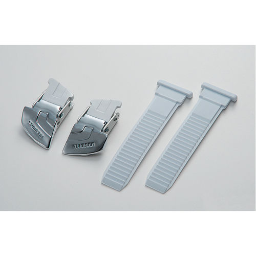 Shimano Universal large buckle and strap set silver / white