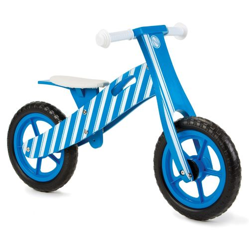 Nicko NIC851 Blue Stripe Wooden Balance Bike