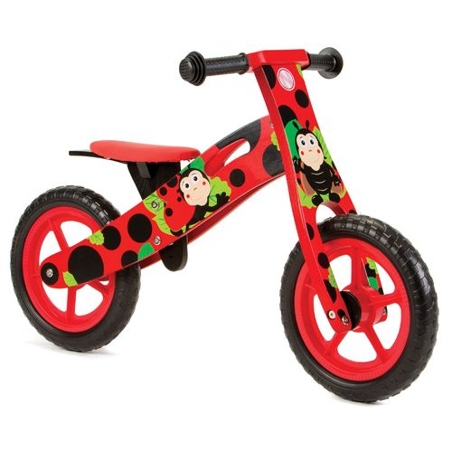 Nicko NIC854 Ladybird Wooden Balance Bike