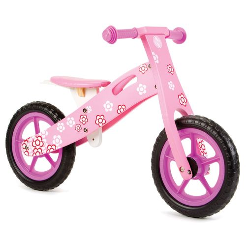 Nicko NIC856 Pink Flower Wooden Balance Bike