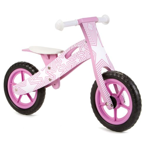 Nicko NIC858 Purple Star Wooden Balance Bike