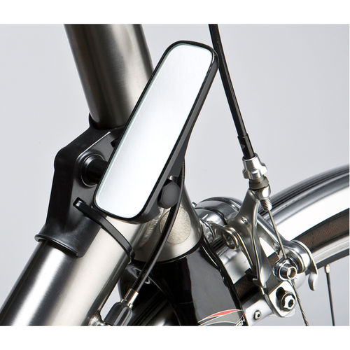 M Part Adjustable mirror for head tube fitment narrow black