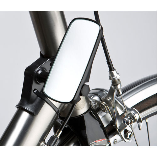 M Part Adjustable mirror for head tube fitment wide black