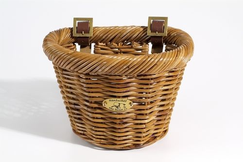Nantucket Bike Baskets Cisco Rattan Basket D Shape Child