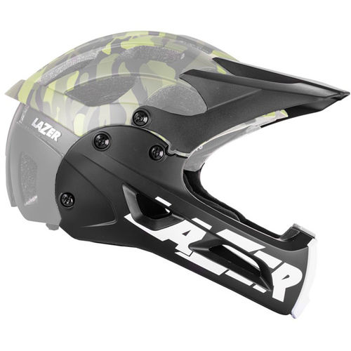 Lazer Revolution black chin guard & long visor