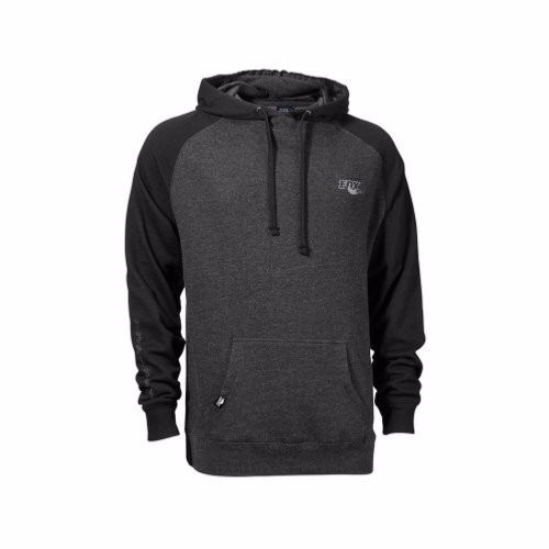 FOX Ride Unisex Pullover, Black/Charcoal Heather