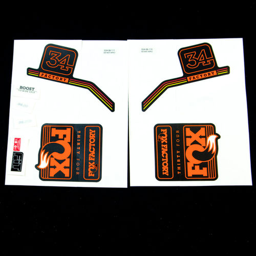 FOX Decal Kit: 2016, 34, Factory Series, Orange Logo