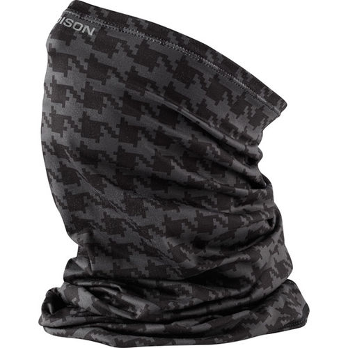 Madison Microfiber Neck Wamer - One size, Black Houndstooth