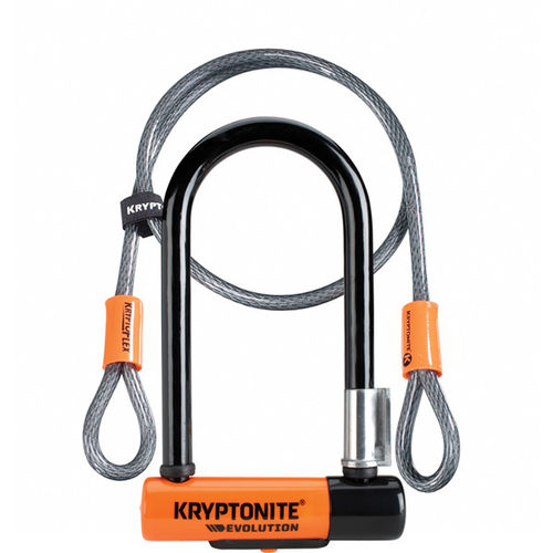 Kryptonite Evolution Mini 7 Lock With 4 Foot Kryptoflex Cable With FlexFrame Bracket