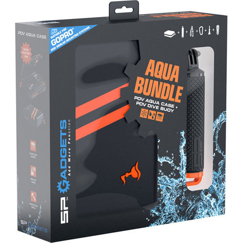 SP Gadgets Aqua Budle - Waterproof Case and POV Dive Buoy for Action Cameras