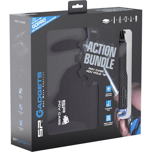 "SP Gadgets Action Bundle - POV Case and POV Pole 19"" for Action Cameras"