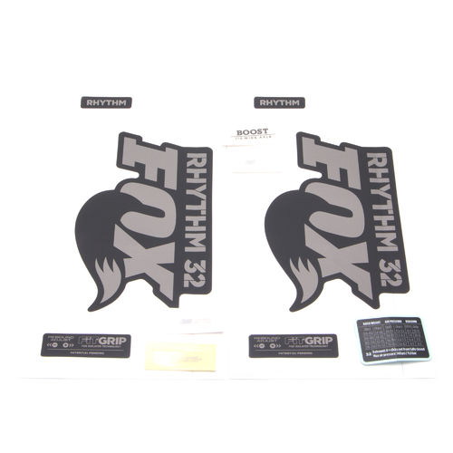 Fox Fork Decal Kit 32 Rhythm Series 2018 Black