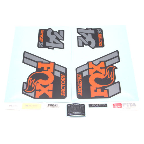 Fox Fork Decal Kit 34 Factory Series 2018 Black