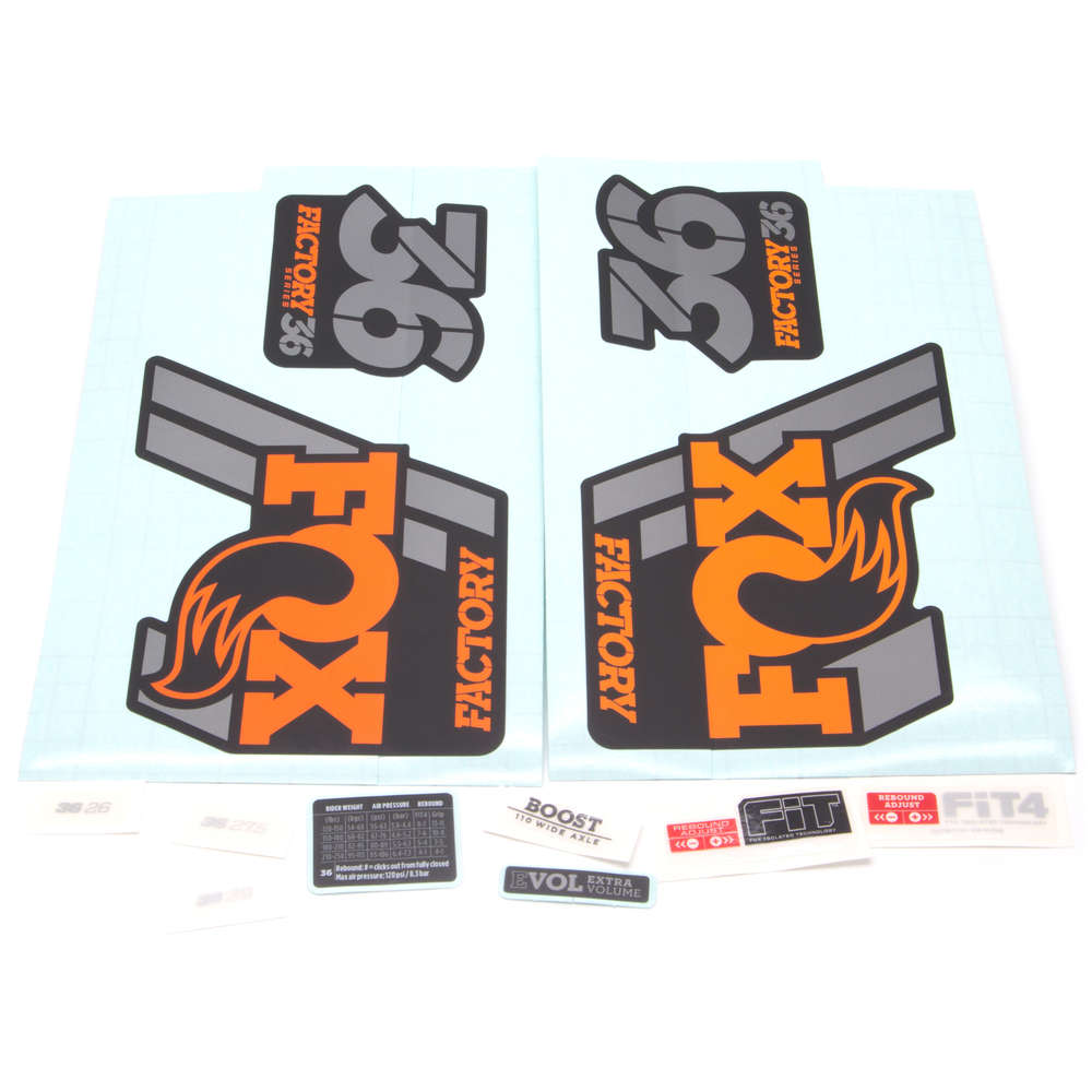 Fox Fork Decal Kit 36 Factory Series 2018 Black