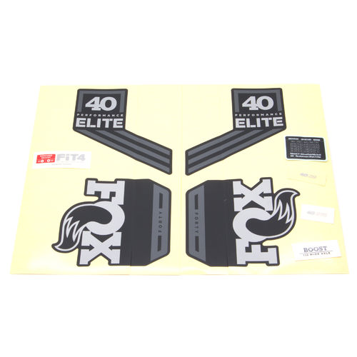 Fox Fork Decal Kit 40 Performance Elite Series 2018 Black