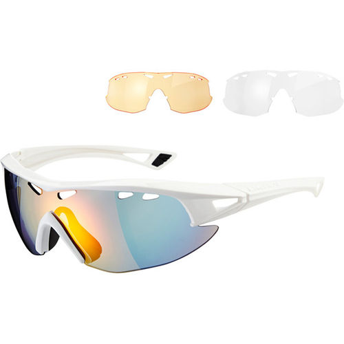 Madison Recon Glasses 3 Lens Pack - Gloss White/Fire Mirror Amber & Clear Lenses