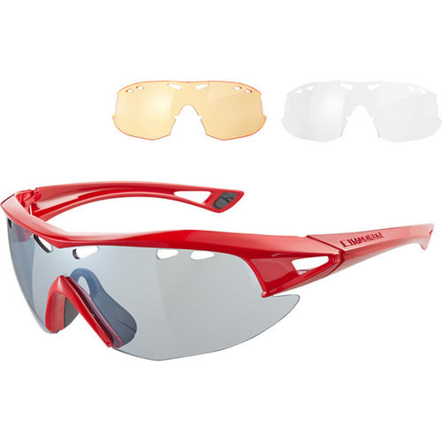 Madison Recon Glasses 3 Lens Pack - Gloss Red/Silver Mirror Amber & Clear Lenses