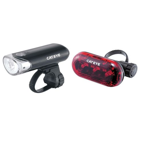 CatEye EL130 Front Light & Omni Rear Light Set