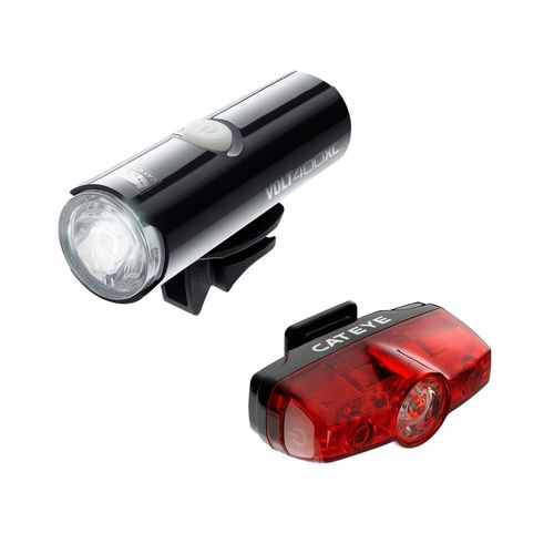 CatEye Volt 400 XC Front Light & Rapid Mini Rear USB Rechargeable Light Set