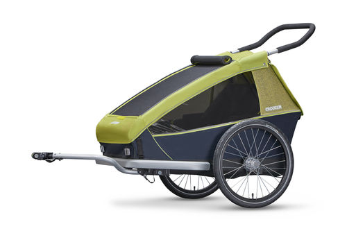 Croozer Kid For 2 Double Trailer & Accessories Lemon Green 2018