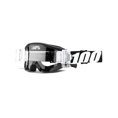 100% Strata Junior Mud Goggles - Outlaw With Clear Lens