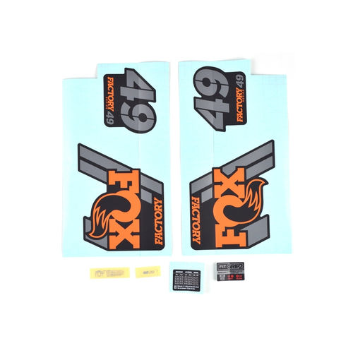 "Fox Fork 49 Factory Series Decal Kit 29"" 2019"